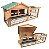 KCT Two Tier Wooden Rabbit Hutch with Run