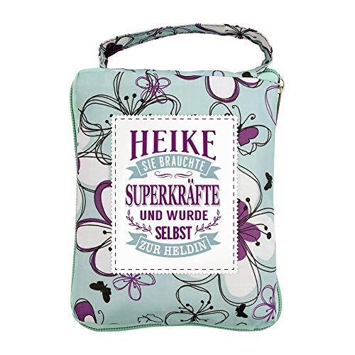 History & Heraldry Design Top Lady Tasche: Heike/Einkaufstasche, Strandtasche, Sporttasche, Blumenmuster/vielseitig, praktisch, personalisiert mit Name und Spruch