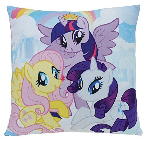 FUN HOUSE 712530 My Little Pony - Coussin carré 35 x 35 cm pour Enfant, Polyester, Pas de Variation, 35 x 35 x 15 cm