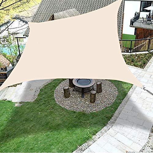 DAMAI Toldo para Jardín Vela De Sombra Rectangular Impermeable Protección Rayos UV Resistente para Patio Terraza,Beige,4x5m