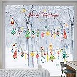 ufengke Pegatinas de Navidad Adornos Colgantes Vinilos Calcomanías de Ventana DIY Papá Noel para Vitrina Hogar Decoración de Navidad