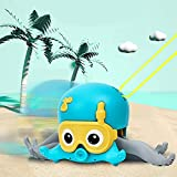 Antetek Baby Bath Toy and Walking Toy Octopus Clockwork for Playing in The Bathtub, Bathroom, Swimming Pool or Pulling on The Ground