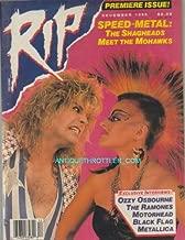 RIP Speed Metal Muisc Magazine December 1986 Premiere Issue #1 Ozzy Osbourne The Ramones Motorhead Black Flag Metallica (RIP Magazine)