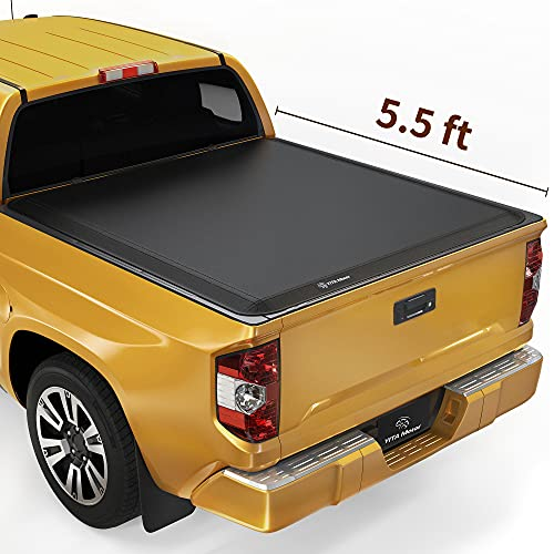 YITAMOTOR Soft Tri-Fold Truck Bed Tonneau Cover Compatible with 2014-2021 Toyota Tundra (Excl. Trail Edition), Fleetside 5.5 ft Bed with Deck Rail System