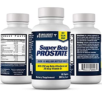 Super Beta Prostate – Over 15 Million Bottles Sold – Urologist Recommended Prostate Supplement for Men - Reduce Bathroom Trips Night Promote Sleep & Bladder Emptying Beta Sitosterol  60ct 1 Bottle