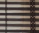 VERDELOOK Africa, Tapparella in Listelli di Bamboo, 120x250 cm, Marrone Scuro