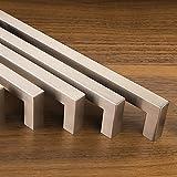 10er Set SO-TECH® Möbelgriffe E8 echt Edelstahl BA 160 mm Edelstahlgriffe