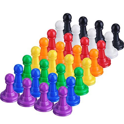 Hestya 32 Pezzi Pedine Scacchi in Plastica Multicolore Pezzi Giochi da Tavolo, 1 Pollice Pedine Segnapunti da Tavolo Componente