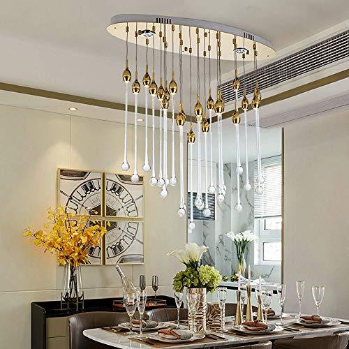 ZSYUN Lámpara De Cristal Araña de Cristal Ovalada Meteor Caliente de la Ducha de luz LED de la lámpara de Techo nórdico Moderno Creativo Villa romántico Restaurante Pórtico casero