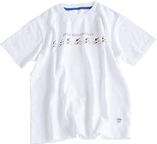 [92C-09G]快晴堂(かいせいどう)Retro Bicycle Race T-shirt(プリントTシャツ/レトロ/自転車)
