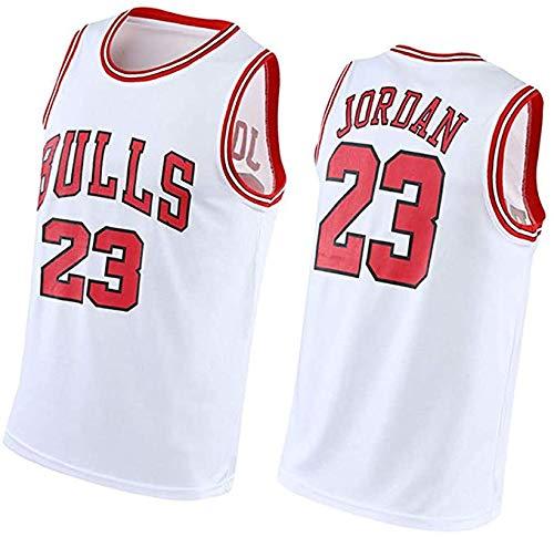 NBFC Jordan 23# Jersey Basketball para Hombres poliéster sin Mangas Letras Cosidas y números Uniformes Anti-reducción rápida XXL