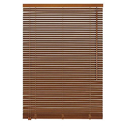 Easy-Shadow Holzjalousie Holz-Jalousie Bambus Jalousette Echtholz Rollo Jalousette 85 x 120 cm / 85x120 cm in Farbe kirschbaum - Bedienseite Links // Maßanfertigung
