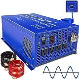 XYZ INVT 6000w Power Inverter Pure Sine Wave Inverter 48v dc to ac 110v 120v Remote Switch Peak 12000w Heavy Duty for Off Grid Solar Power System Home Emergency (6000w48v)