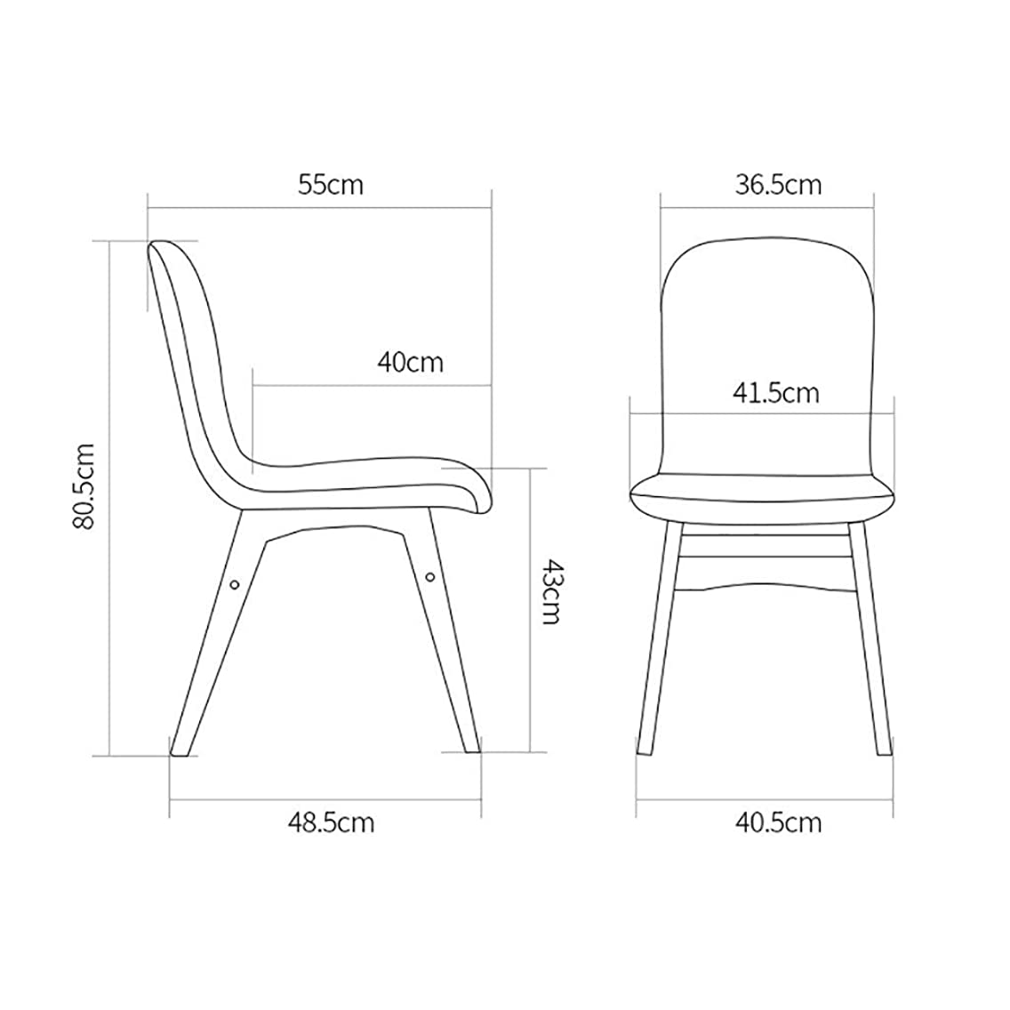 XE Solid Wood Dining Chair, Leisure Bench,Home Furniture Lounge Chair Wood Dining Chair Simple Comfortable Study Chair Leisure Coffee Chair