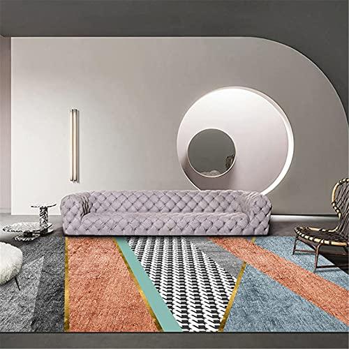 LBMTFFFFFF Casa Nordic - Alfombra de salón rectangular de lujo, suave, cómoda, 120 x 160 cm
