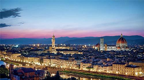 OKOUNOKO 1000 Pezzi Puzzles 3D, Vista della Città di Firenze, Decorazione per Il Gioco del Giocattolo di Casa Esplora La creatività, 75X50Cm