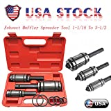 US in Stock 3 PC Exhaust Pipe Expander Tool Set, Tail Pipe Butt Muffler Exhaust Expander Kit 1-1/8' to 3-1/2' with Blow Mold Storage Case