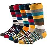 Ueither Chaussettes Fantaisie Homme Coton Peigné Confortable et Respirante Socks Socquettes,Multicolore 11,42-48