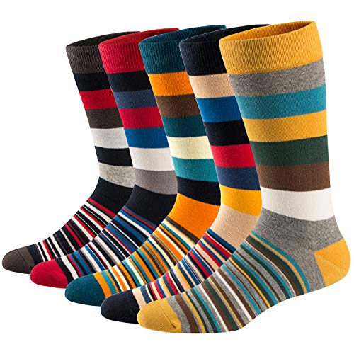 Ueither Lustigen Herren Socken Bunte Gemusterte Baumwolle Socken