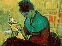 ゴッホの油絵アートプリントポスター The Novel Reader - フィンセント ファン ゴッホ 世界の名画 高級ポスター 60cmx80cm アートプリントキャン バス 写真