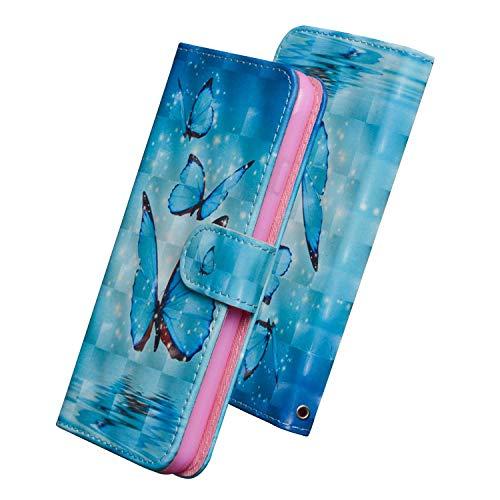 Spyden Kratzfestes Hülle für LG X Power2, Brieftasche Schutzhülle mit Geldfach & Kartenfach, PU Leder Hülle für LG X Power2, Muster 6