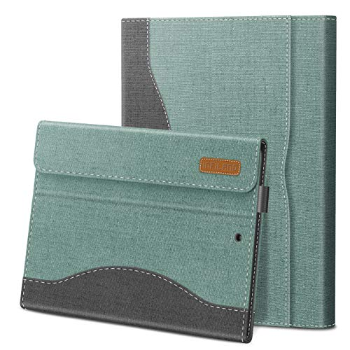 Infiland iPad 7th Generation Case, iPad 8th Generation Case, Multi-Angle Business Cover Built in Pocket for iPad 10.2 inch 2019/2020 (Auto Wake/Sleep),Mint-Green