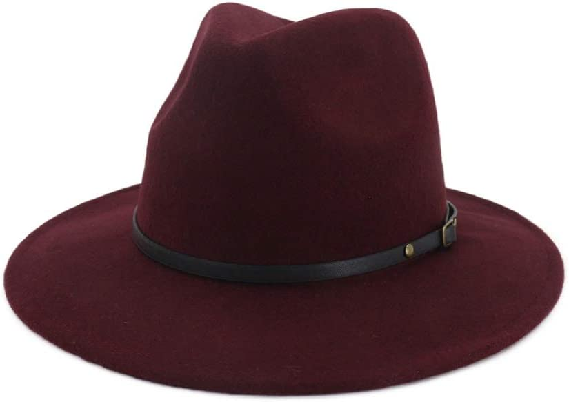 No-branded Fedora Hat Miami Mall Unisex Men with Women Max 57% OFF Wool Belt