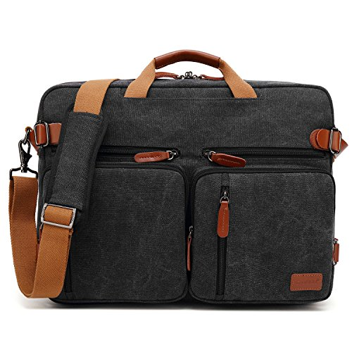 CoolBELL maletin Hombre portatil Convertible en Mochila para Guardar Ordenadores...