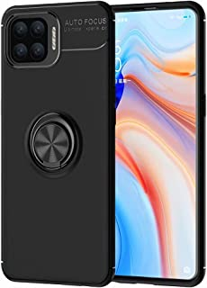 Dalchen Compatible for Case Oppo F17 Pro, Invisible Metal 360°Rotatable Ring Bracket, Kickstand for Magnetic Car Mount, Sh...