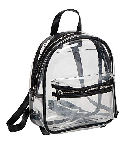 SIX Transparenter Rucksack mit Reißverschluss Fächern (539-287)