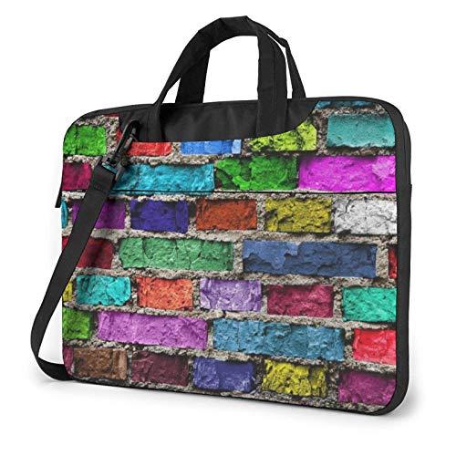 15.6 inch Laptop Shoulder Briefcase Messenger Colorful Brick Tablet Bussiness Carrying Handbag Case Sleeve