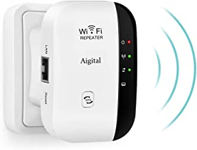 $22 » WiFi Extender Booster Long Range Mini 300Mbps Signal Amplifier with Fast Ethernet Port, Compact Design and Internal Antennas Support AP/Repeater Mode WPS for Any Router & Alexa Devices-2.4GHz