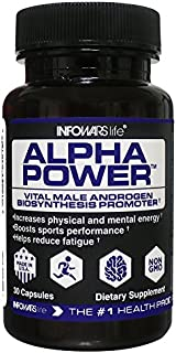 Infowars Life - Alpha Power (30 Capsules) – Vital Male Androgen Biosynthesis Promoter