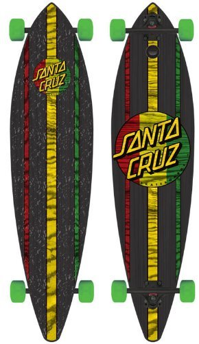 Santa Cruz Mahaka Rasta Pintail Cruzer Freeride Longboard Deck Complete 43.5'