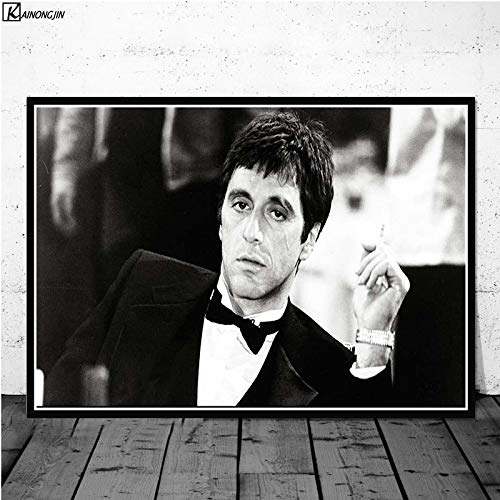 No frame AL PACINO SJAAL Gangster Godfather Movie Poster Wall Art Canvas schilderij Posters en prints voor kamer decoratieve Home Decor 60x75cm