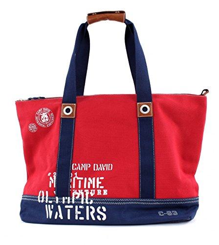 Camp David Deep River Shopper Red