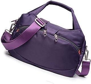Good feeling zm Handtaschen Im Freien Wilde Beiläufige Nylonhandtasche Große Kapazität Reisetasche Segeltuch Oxford Tuch Schulter Kuriertasche Lila