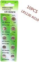 SKOANBE 1cardX10pcs=10pcs Watch Battery 1.5V Button Cell LR1130 SG10 AG10