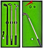 Desktop Golf Pens Set Funny Golf Gifts for Men Unique - Golf Stocking Stuffers for Teen Boys - Golf Lovers Gifts for Golfers Him Dad Birthday - Goodbye Farewell Gifts for Coworkers Boss Office Gadgets