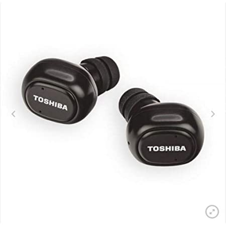 TOSHIBA RZE-BT800E Truly Wireless Bluetooth in Ear Earbuds with Mic (Black)