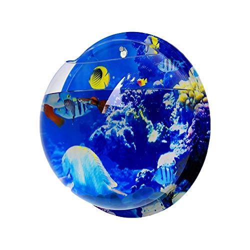 Wankd 23CM Idylische blaas schotel plant aquarium van acryl met wandhouder bloempot tuin terras balkon wanddecoratie 29.5CM Onderwater