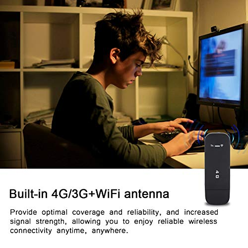 Tosuny Mobil WiFi Router, drahtloser Netzwerk Hotspot, 4G LTE WLAN Router, WiFi Dongle High-Speed 100 MBit/s für Windows 2000/2003 / XP/Vista / 7/10, für Mac OS 10.4 oder höher(mit WiFi)