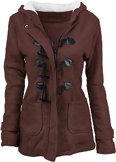 JESPER Women Plus Size Hooded Long Sleeve Ethnic Print Vintage Fleece Thick Coats Zipper