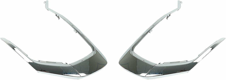 6 pcs Set Front Bumper Under blast Ranking TOP8 sales LH+RH Compatible Trim Chrome with molding