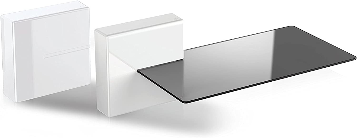Meliconi Ghost Cubes Expandible Audio Video Modular Cable Cover System with Shelf Option White Shelf