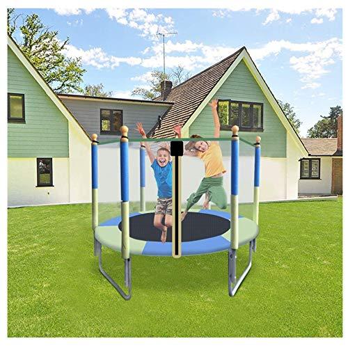 Uxinse Trampolín para niños, cama elástica para niños de 5 pies con malla de salto y cubierta de resorte acolchada para niños al aire libre de juguete de Reino Unido Stock 2021