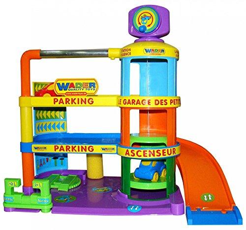 Wader Jouet Garage bébé Garage Voiture Garage Parking Jouet Jeu Garage Neuf