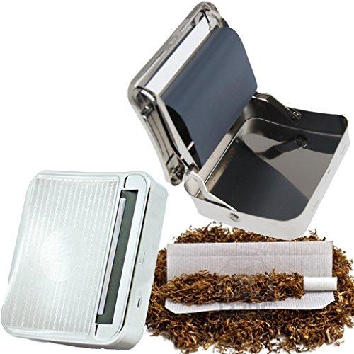 Tabak- / Zigarettendose mit automatischer Zigarettendrehfunktion, aus Metall
