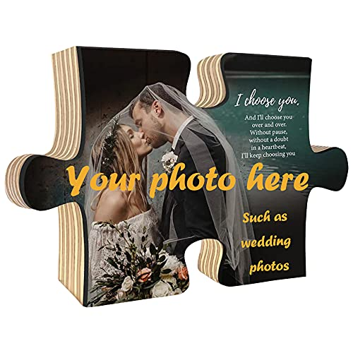 Marco de fotos de pieza de rompecabezas de madera de 10x15x2cm, marco de fotos de rompecabezas personalizado personalizado, marco de...