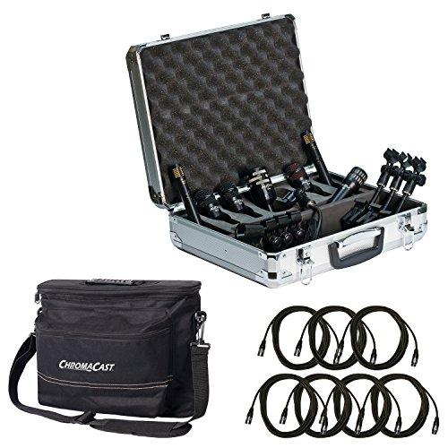 Audix DP77DRUM MIKROFON Paket mit 7chromacast 18,5'Mikrofon Kabel und der Musiker Gear Tasche